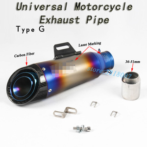 Image 2 - 51mm 61mm Universal Motorcycle Exhaust Pipe Escape Modified Motorbike Laser Marking Muffler For CBR1000RR S1000RR Ninja250 R6 R1
