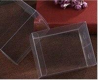 300PCS/LOT 8x8x30cm PVC Transparent Clear Boxes Plastic Jewelry Storage Case