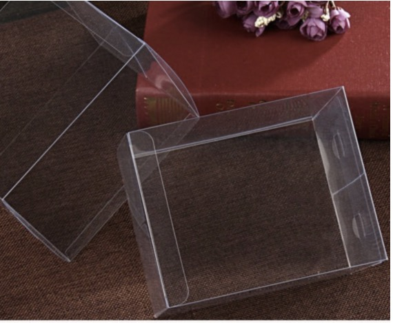 300PCS/LOT 8x8x30cm PVC Transparent Clear Boxes Plastic Jewelry Storage Case