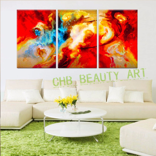 3 Piece Abstract Wall Art Canvas Prints Large Color Graffiti ...