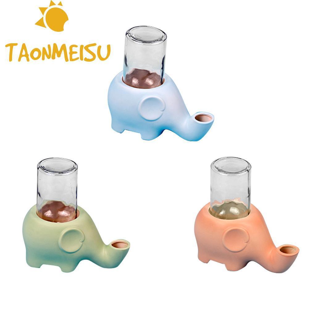 2018 Pet Drinkers Elephant shape Pet Cat Dog Drinker Moistless mouth Ceramic Glass Feeder animal pet bowl water food suppliers