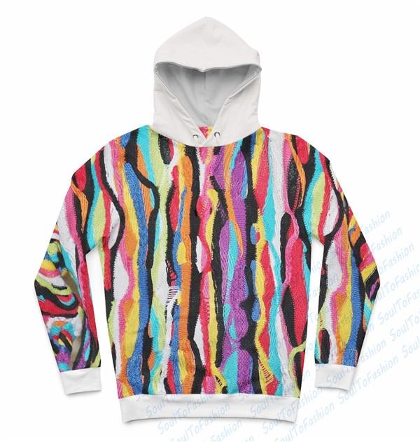 coloured hoodie