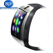 Q18 Más El Notificador de Sincronización de Reloj Reloj inteligente Soporte de Tarjetas SD Sim Conectividad Bluetooth Android Teléfono Smartwatch podómetro Deporte