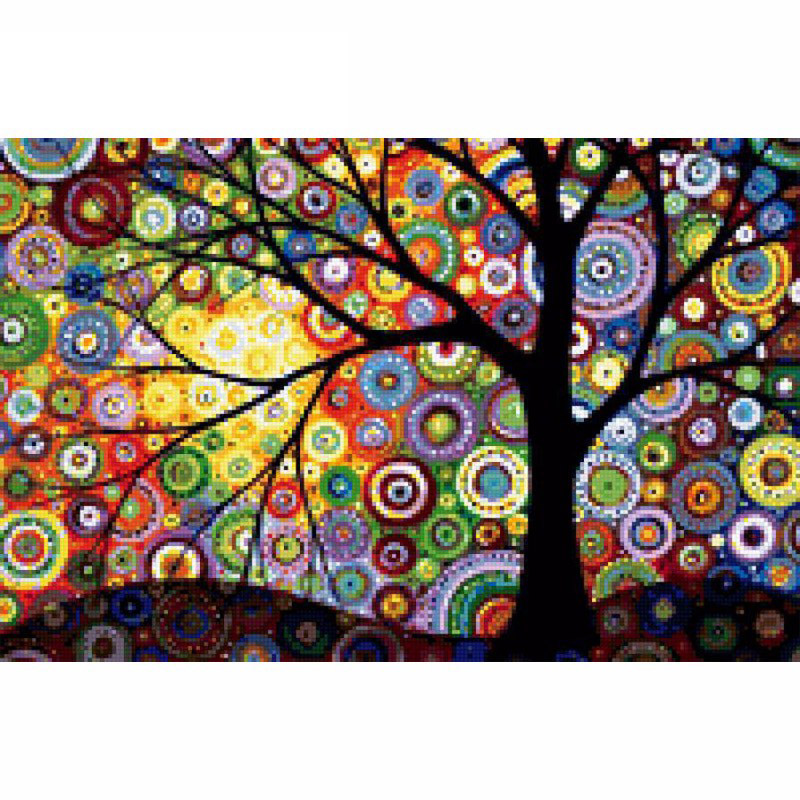 5D DIY Diamond Painting Tree Diamond Painting Cross Stitch Colorful Dream Tree Diamond Drill Rhinestone Home Decoration LX