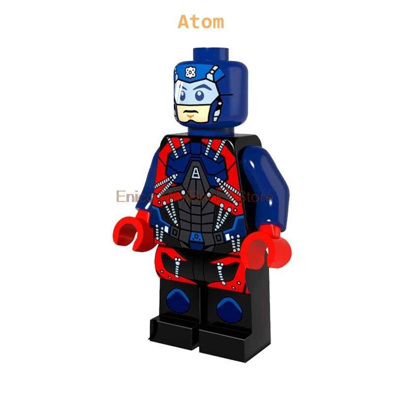 Leyendas del mañana película de superhéroes Atom flash flecha Aciton figuras DIY Mini muñecas bloques de construcción juguetes para niños