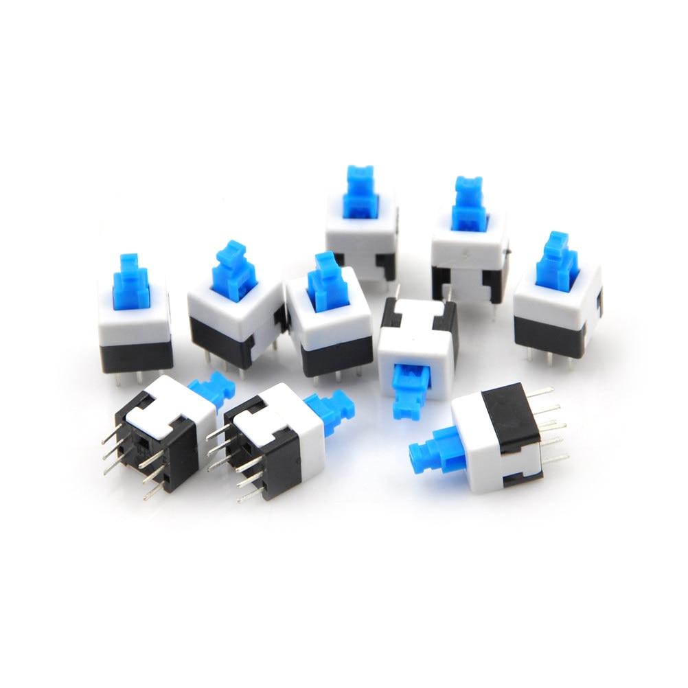 8-x8-6-pin-dpdt-mini-push-button-self-locking-switch-multimeter-switch-10pc