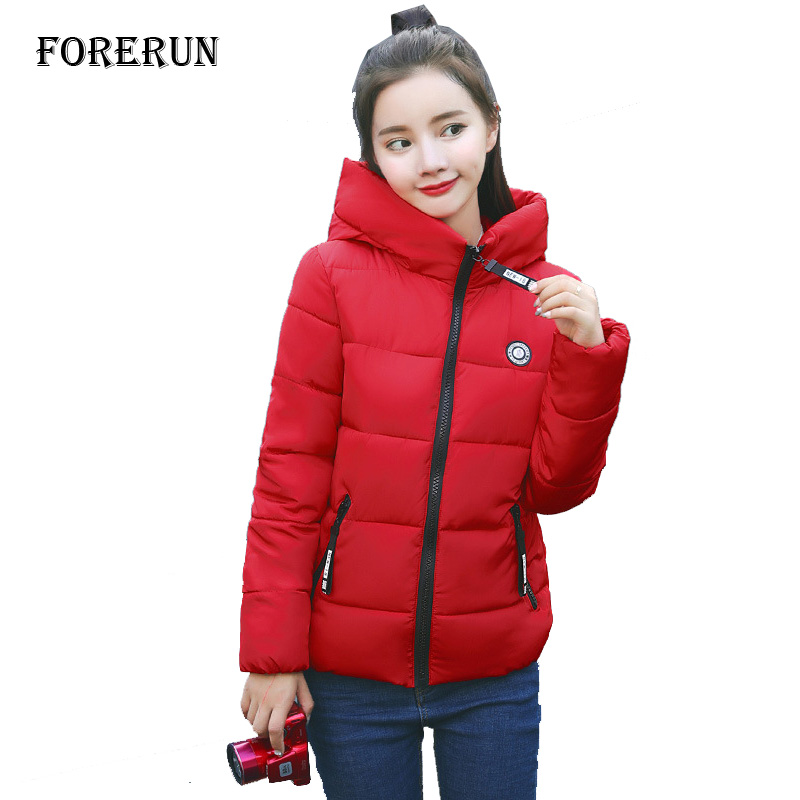 Women Winter Jacket Hooded Parkas Solid Thick Cotton Padded Slim Woman Winter Coats and Jackets Outwear