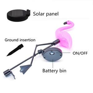 Image 5 - Luz Solar de jardín Flamingo, iluminación de decoración de patio, impermeable, lámpara LED para jardín alimentada por energía Solar con carga automática