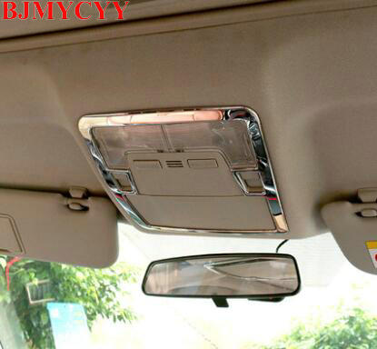 BJMYCYY Stainless steel decorative frame for front reading lamp For Toyota corolla 2014