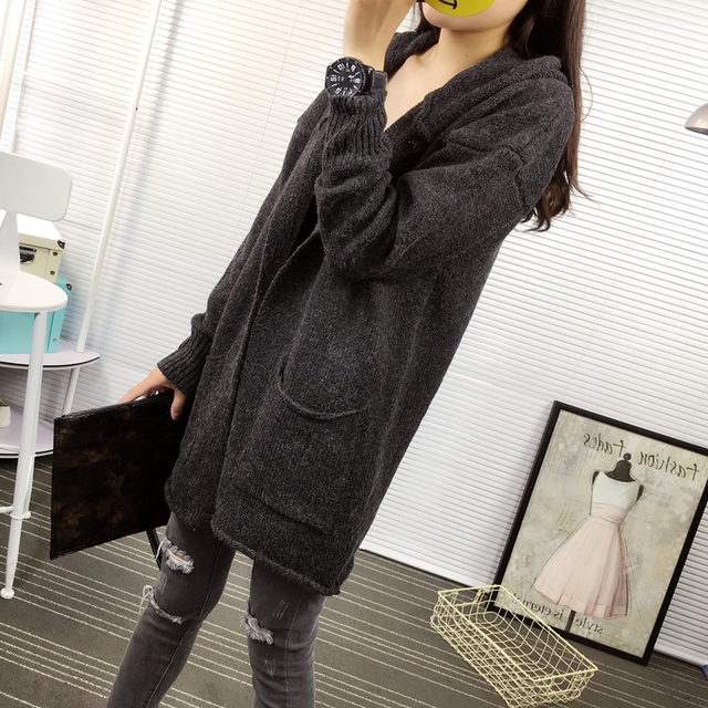 943550943 Hot Autumn Fashion Winter Women Cardigan Hemming Pockets Knitwear ...