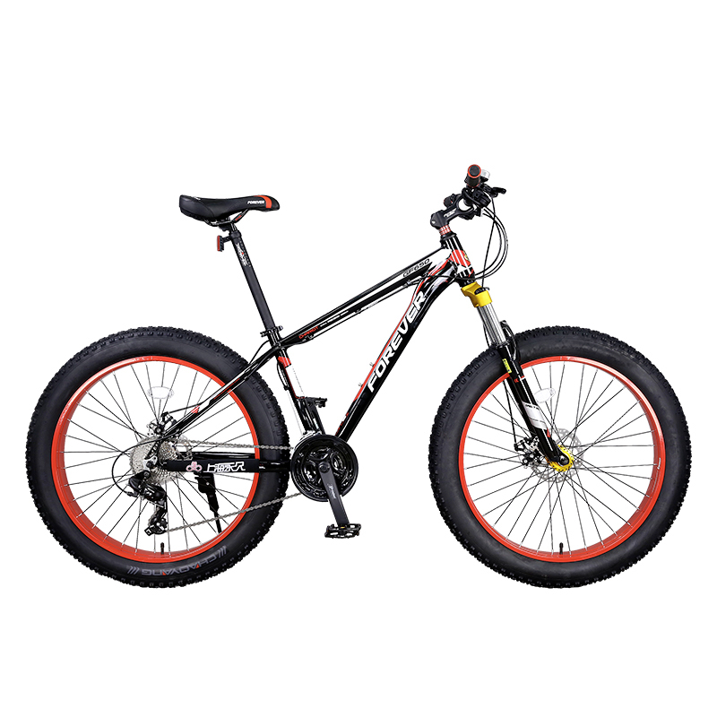 Mountain Bike  Wide Thick Tires Shock Absorbed 27 Speed Aluminum Alloy Hard Frame 26 Inches Big Tires  Waterproof Bearings Adult