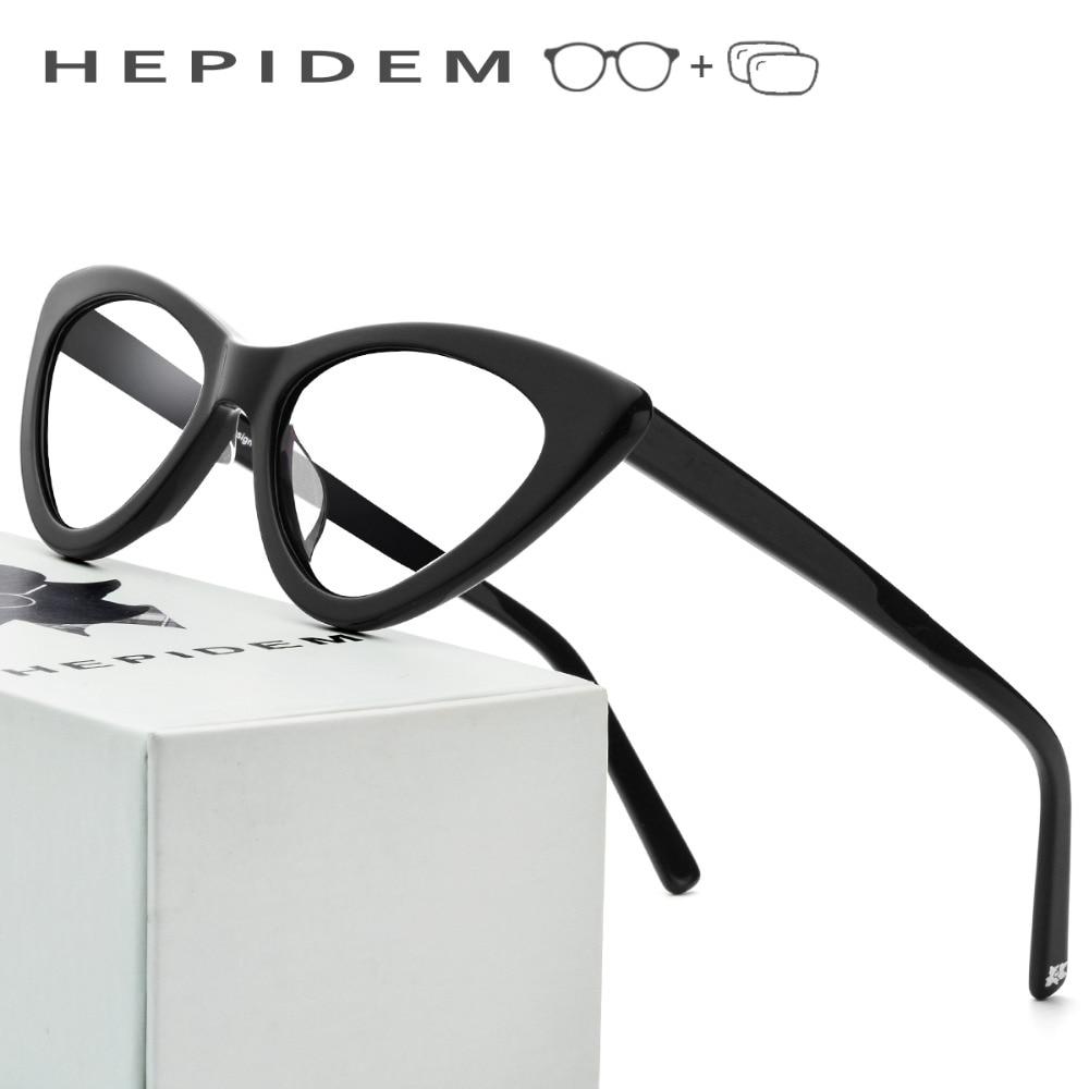 Acetate Optical Prescription Glasses Frame Women Brand Designer Cat Eye Eyeglasses 2019 New Fors Ladies Cateye