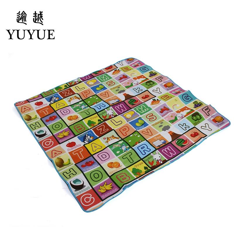 150*180cm waterproof aluminum picnic mat cartoon design for children climb mats baby crawls cushioning mat playmat 2
