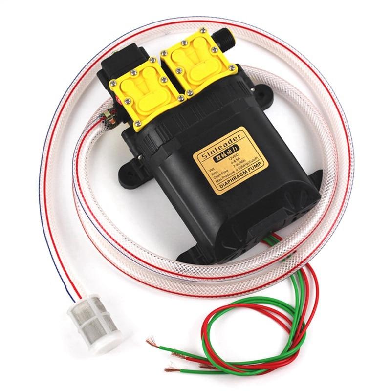 12V двухжильный электрическая распылительная установка головки двигателя, опрыскиватель Запчасти напор насоса 12V двухъядерный Мощность насос, сельскохозяйственный Электрический распылитель D - Цвет: Black