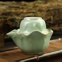 Ru kiln Lotus leaf shape Tea Set,high quality ChineseTravel Kung Fu teaset.The hot sales of Ceramic tea set.creative Coffee cup