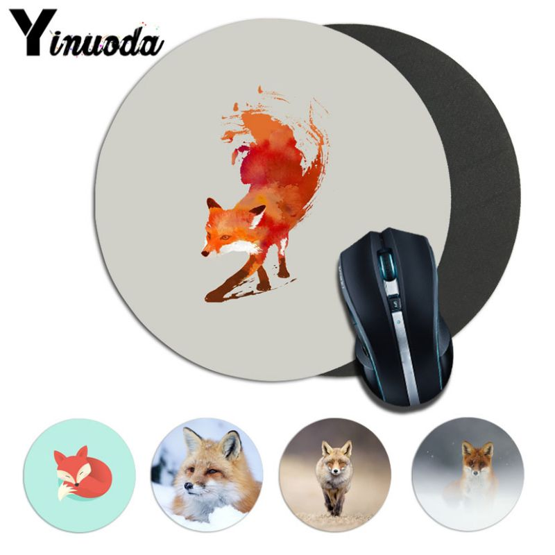 Yinuoda Boy Gift Pad Fox Computer Gaming Lockedge Mousemats Size For 20*20cm 22*22cm Round Mousepad Rubber Rectangle Mousemats