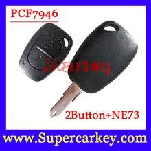 Бесплатная Доставка (1 шт.) 2 Кнопки Дистанционного Ключа PCf7946 чип 433 мГц transmister для Renault Traffic/Master/Vivaro/Movano/Kangoo