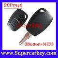 Frete Grátis (1 pcs) 2 Botão do Controle Remoto Chave transmister PCf7946 chip 433 mhz para Renault Traffic/Master/Vivaro/Movano/Kangoo