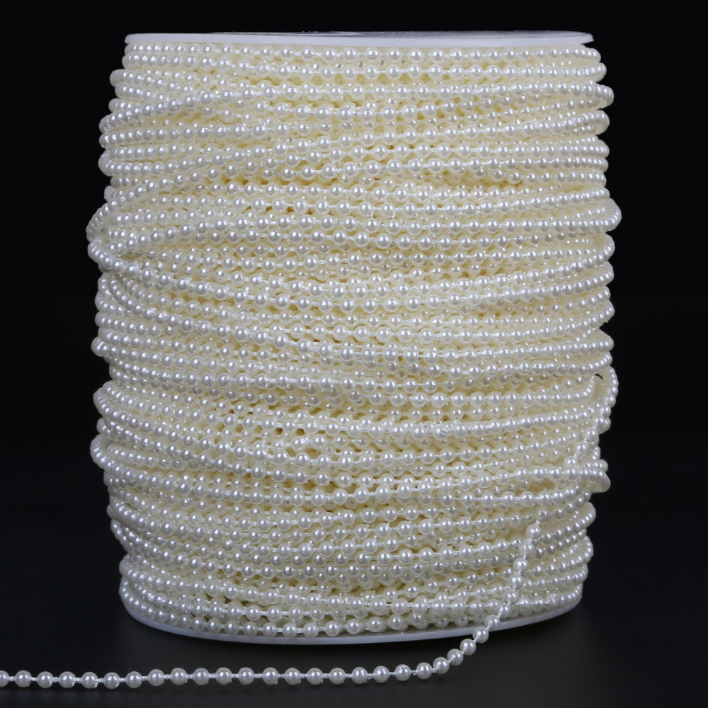 120 Half Round Plastic Imitation Pearl Bead Flat Back Cabochons White 8 x 5 mm
