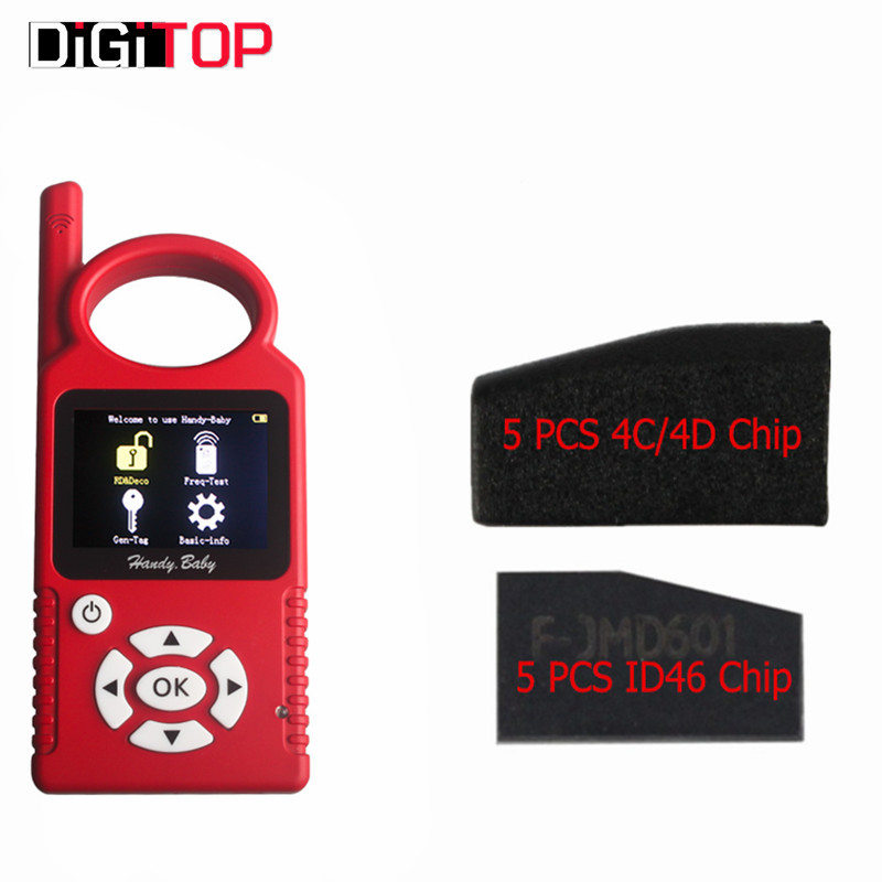Handy Baby CBAY Hand-held Car Key Copy Auto Key Programmer V6.1.0 for 4D/46/48 Chips CBAY Chip Programmer Plus 4C/4D ID46 Chip