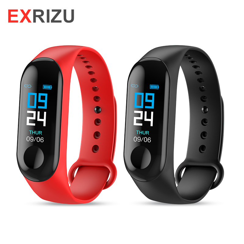 EXRIZU Smart Wristband di Sport Del Braccialetto Bluetooth Frequenza Cardiaca Pressione Impermeabile Passo Saltare Situp USB di Ricarica APP Yoho di Sport