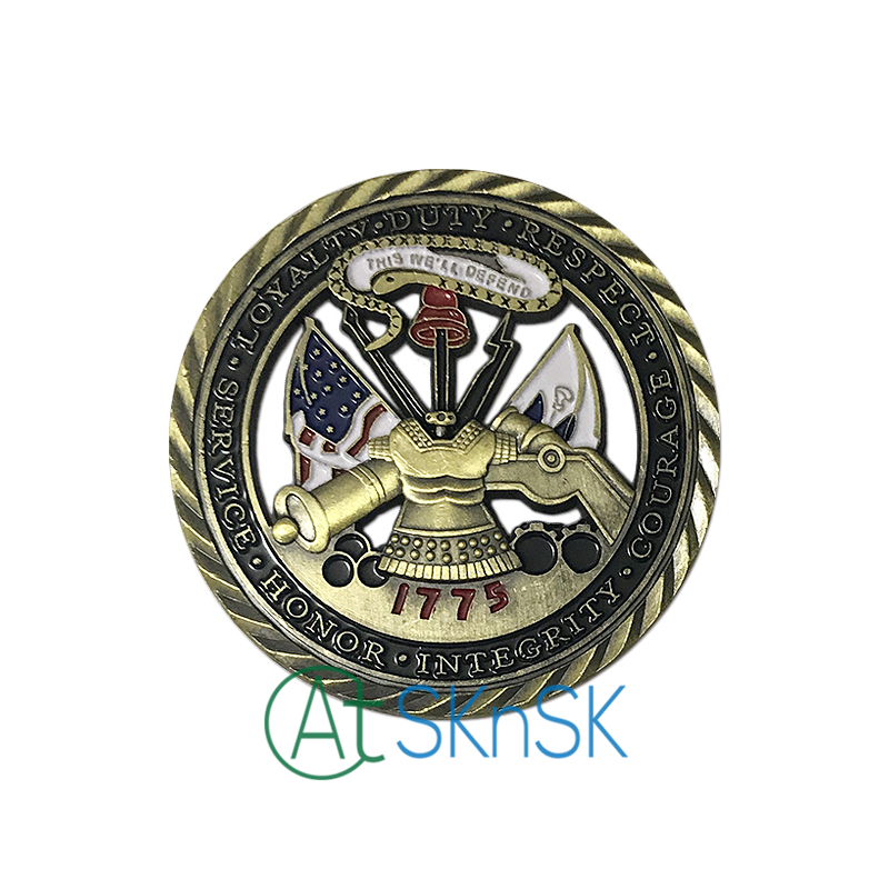 Venta al por mayor de alta calidad soucenir núcleo valores artesanías moneda coleccionable 1775 monedas conmemorativas unir Estados ejército desafío monedas - 2