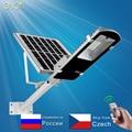 Led Luz de calle Solar Led al aire libre de luz Solar impermeable gran Panel Solar Control remoto 100 W Solar Led Luz de calle jardín
