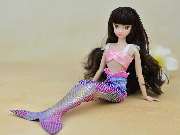 Handmade-Dolls-Party-Dress-Gown-Skirt-Fashion-Clothes-For-Barbie-Doll-Genuine-Mermaid-Tail-Dress-Baby-Toy-2