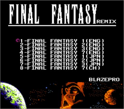 FINAL FANTASY I, II, III, VII REMIX 8 в 1 патрон игры для NES консоли