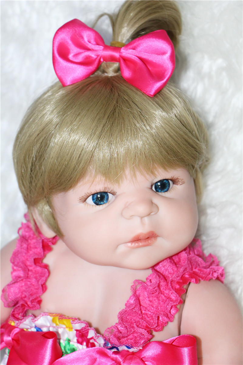 22quot full silicone reborn baby dolls best children girls toy dolls gift can enter water bebe for Best reborn baby dolls