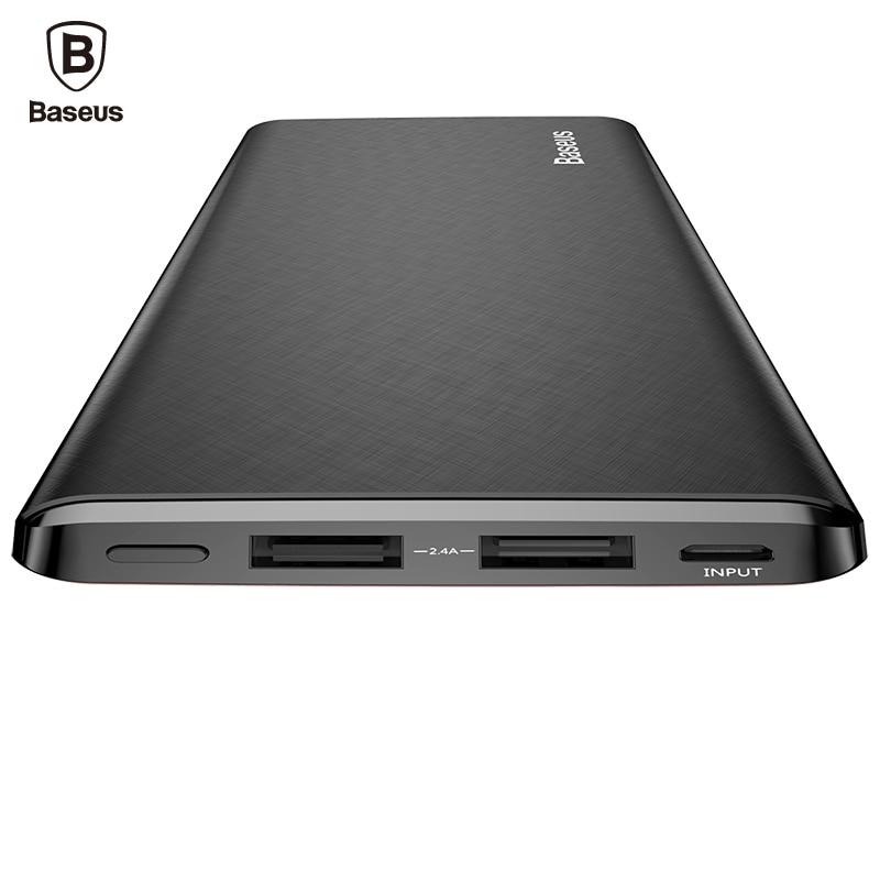 Baseus 10000mAh Power Bank For IPhone Xiaomi Mi Ultra Slim Powerbank Poverbank Mobile Phone External Battery