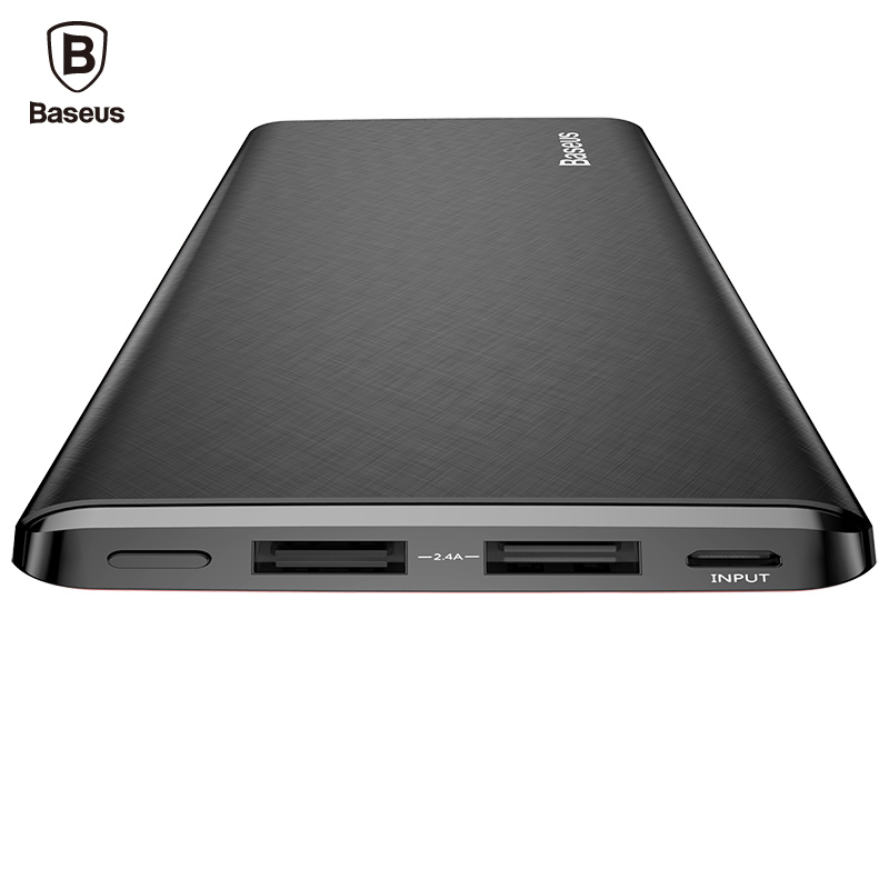 Baseus 10000mAh Power Bank For iPhone Xiaomi Mi Ultra Slim Powerbank Poverbank Mobile Phone External Battery Charger 10000 mAh