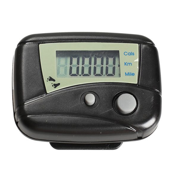 Black/White Digital LCD Mini Clip-on Step Movement Calories Counter Multi-Function Digital Pedometer with battery