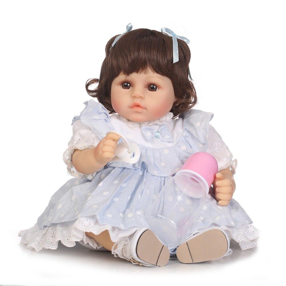 NPK 47cm reborn dolls soft silicone vinyl baby dolls bebe princess reborn bonecas nice clothing girafa plush doll gift kids toys
