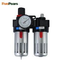 FREE SHIPPING 1/2'' Air Compressor Oil Lubricator Moisture Water Trap Filter Regulator With Mount BFC4000 FivePears