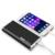 Ultra-delgada caja de metal banco de la energía 10000 mah dual usb batería externa li-polímero cargador portátil para iphone 5 6 xiaomi