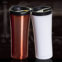 500ML Coffee Mug Cafe 304 Stainless Steel Travel Mug Double Wall Thermos Vacuum Insulated Tumbler Wide Mouth Tea Cup with Lid недорго, оригинальная цена