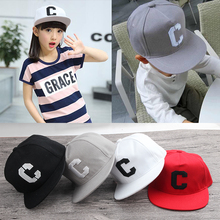2017 new High quality C logo embroidery Snapback Flat Hip Hop caps Casual autumn baseball cap for boy girls kids birthday GIFT