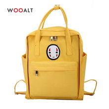 купить Face Print Women Canvas Backpack Preppy Style Girls School Bag for Teenager Large Capacity Female Travel Bag mochilas mujer 2019 дешево