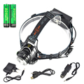BORUIT 6000LM XML T6 LED Headlamp linterna frontal Fishing headlight Torch Protect 6000mAh 18650