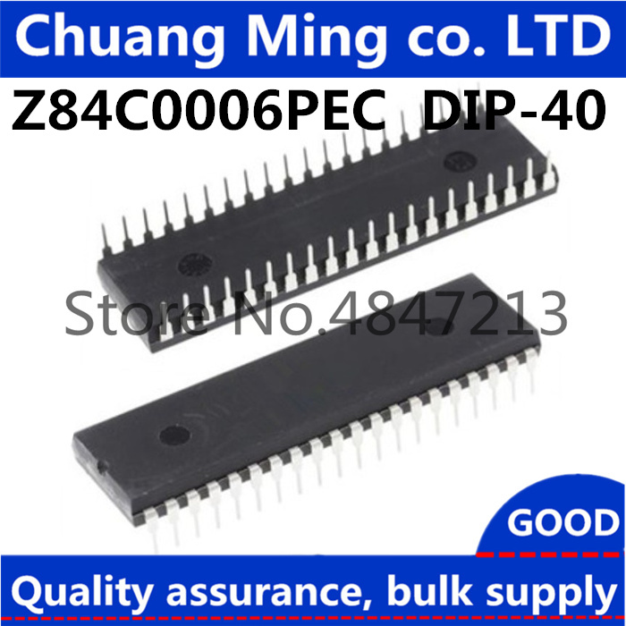 1pcs/lot Z84C0006PEC Z80 CPU DIP-40 In stock, in large supply