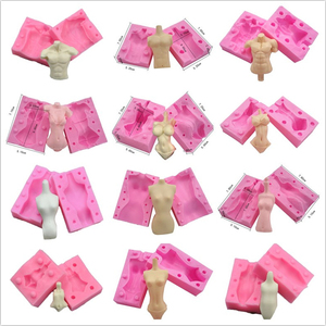Lalki ludzkie ciało Model 3D Lady kobieta mężczyzna dziecko glina polimerowa formy silikonowe Handmade Craft mydło kremówka formy ozdoby do dekorowania tortu pieczenia narzędzia