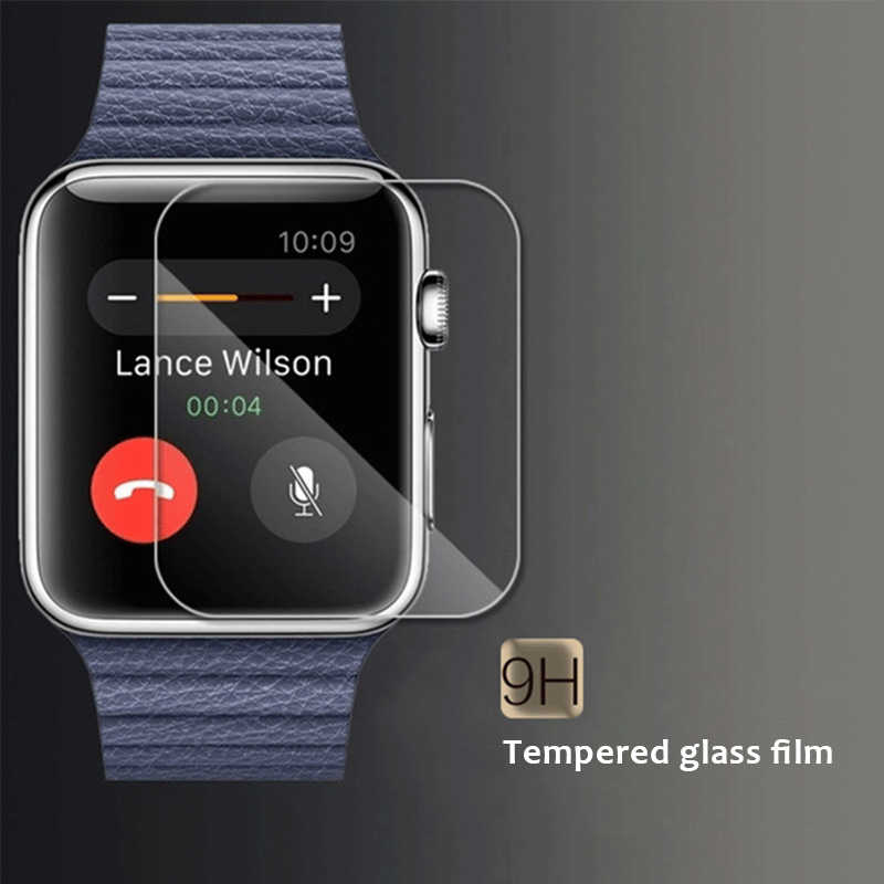 9H HD Clear Tempered Glass for Apple Series watch Screen Protector Film For Apple Watch Series 1/2/3 38mm 42mm Ultra Thin Guard