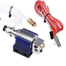 3D V6 J-головки hotend Боуден экструдера Полный комплект с 12 В тепловентилятор ptfe трубки themistor 1.75 мм 3 мм для RepRap 3D принтер Часть