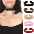 New Design Multilayer Choker Necklace Red/Black/Brown/Beige/Pink/Gray/White Statement Leather Collar Neckalce Brithday Gift