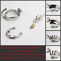 Steel Cock Cage Chastity Devices with New Style Base Ring Testicular Separation 4 style Penis Locking Cage Choose