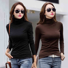 2pcs/lot t shirt women long sleeve t-shirt girl winter thermal tshirt