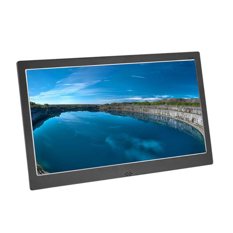 цена на 12 Inch Digital Metal Photo Frame Digital Photo Frame HD 1280x800 Electronic Picture Clock Calendar Round Holder 280*189*25mm