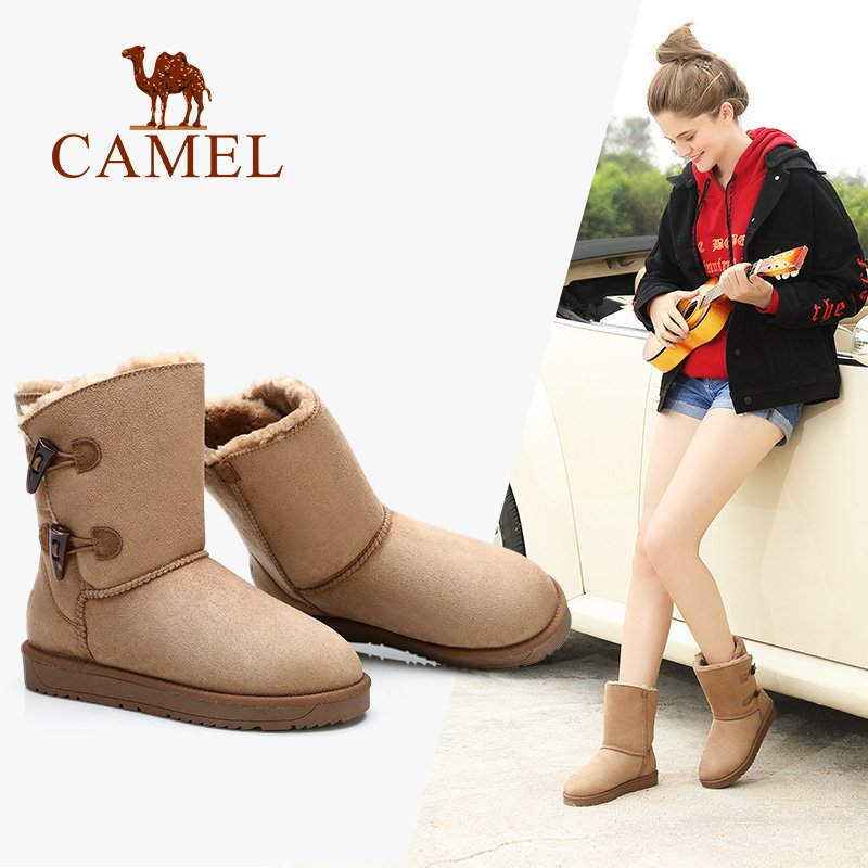 CAMEL Winter Furry Boots 2018 New Fashion Snow Boots Shoes Women Platform Boot Keep Warm Comfortable