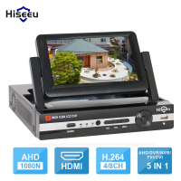 CCTV 4 Channel 8CH 1080N Digital Video Recorder With 7 LCD Screen Hybrid DVR HVR NVR